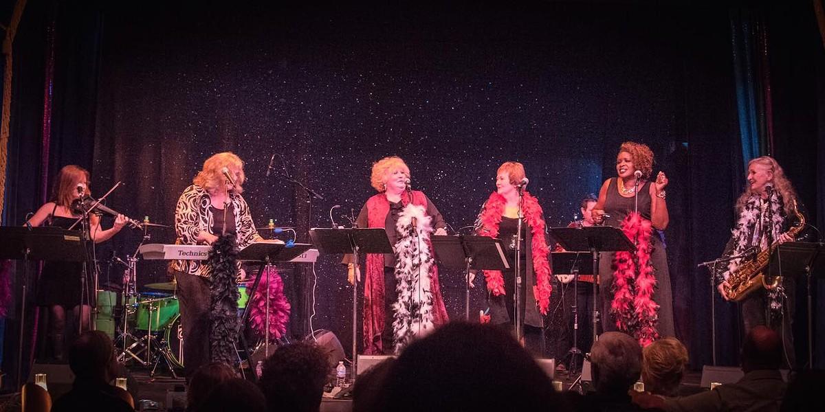 Lisa Otey and the Desert Divas, performing their show, Diva Las Vegas show. - COURTESY