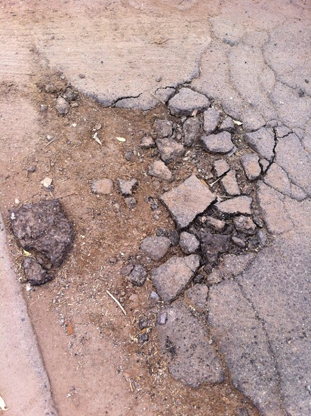 Fix or no fix? - PHOTO FROM TUCSON POTHOLES.