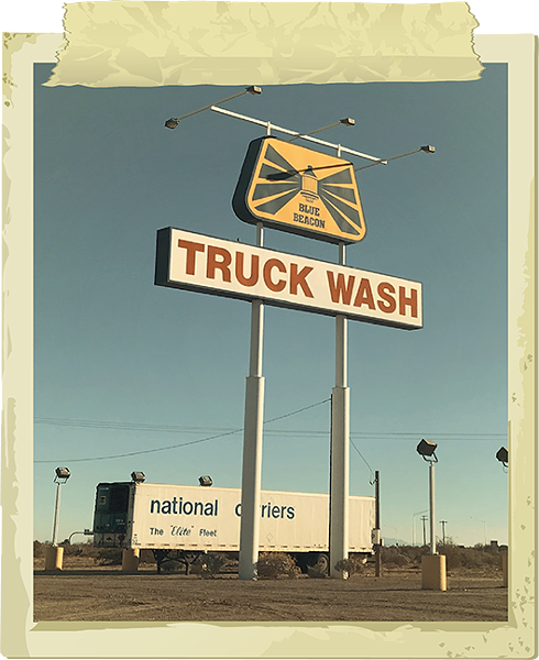 The Blue Beacon Truck Wash holds many mysteries for interstate drivers. - COURTESY