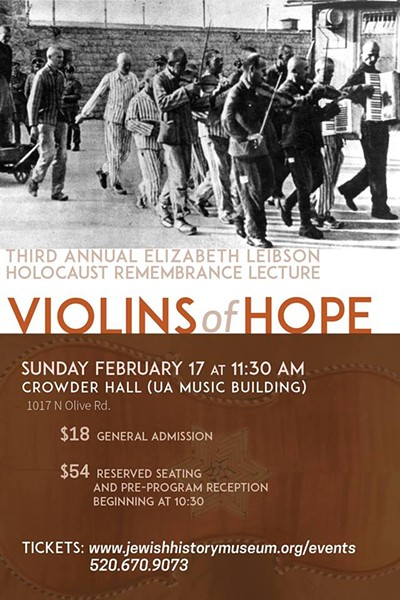 COURTESY OF VIOLINS OF HOPE: ELIZABETH LEIBSON HOLOCAUST REMEMBRANCE LECTURE FACEBOOK EVENT PAGE