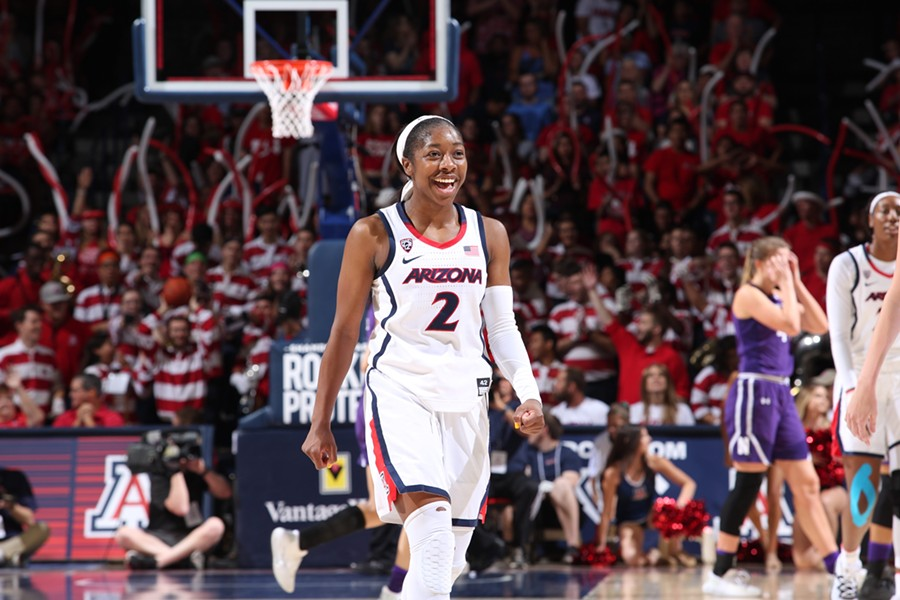 Arizona redshirt sophomore guard Aari McDonald was named the Most Valuable Player of the Women's National Invitational Tournament. - REBECCA SASNETT, ARIZONA ATHLETICS