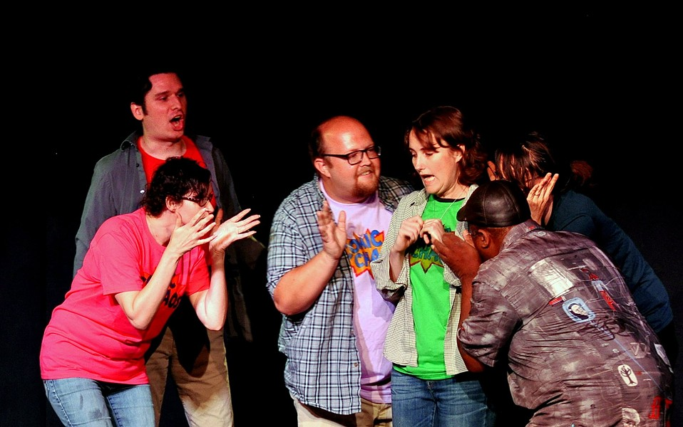 The Unscrewed Family Hour improvises fresh, original comic- book stories from audience suggestions. - JON SCANLON