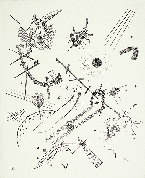 """Kleine Welten XI (Small Worlds XI),"" 1922, drypoint, by Wassily Kandinsky, is on exhibit as part of A New Unity: The Life and Afterlife of Bauhaus, opening Aug. 31 at the University of Arizona Museum of Art."