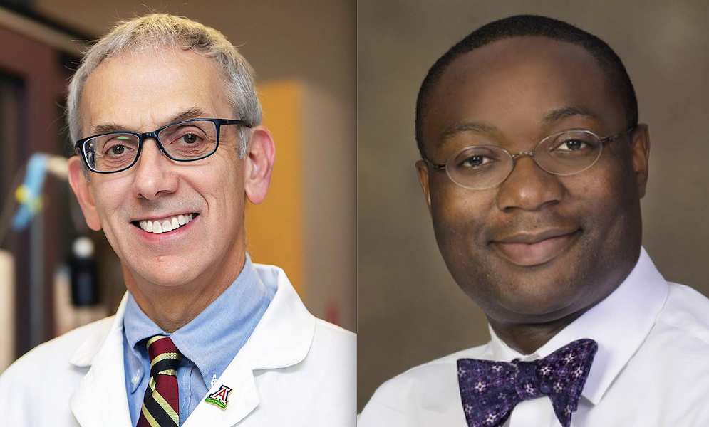 Marvin Slepian, left, and Christian Bime represent the University of Arizona on a new international collaboration of academic and medical professionals.