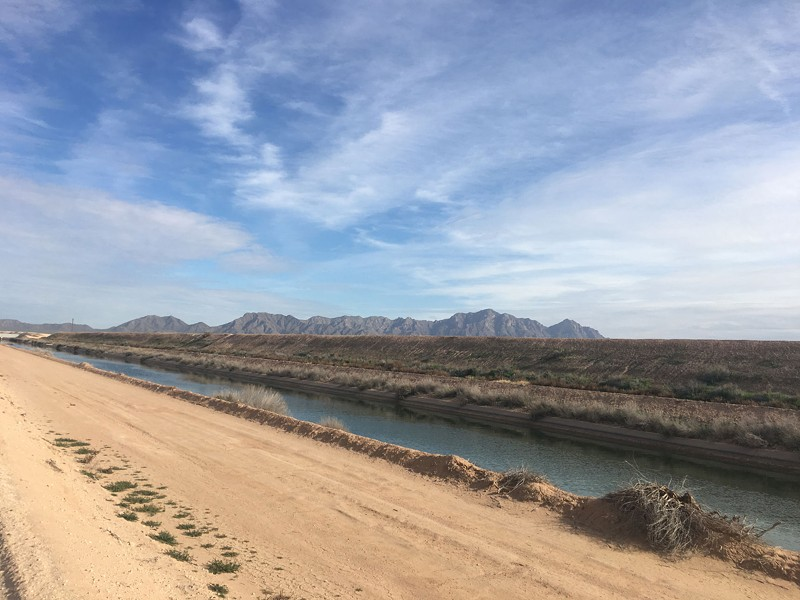 The Central Arizona Project canal system spans 336 miles and brings 1.5 million acre feet of water from the Colorado River down past Tucson. - LILLIAN DONAHUE / CRONKITE NEWS