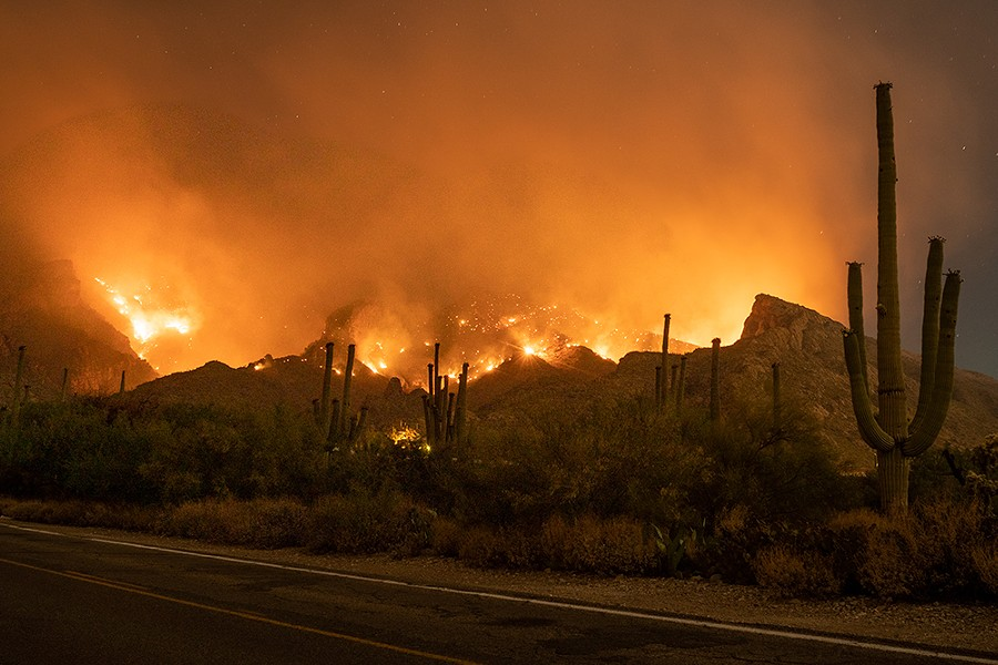 Arizona has been hit with massive wildfires as well. - FILE PHOTO