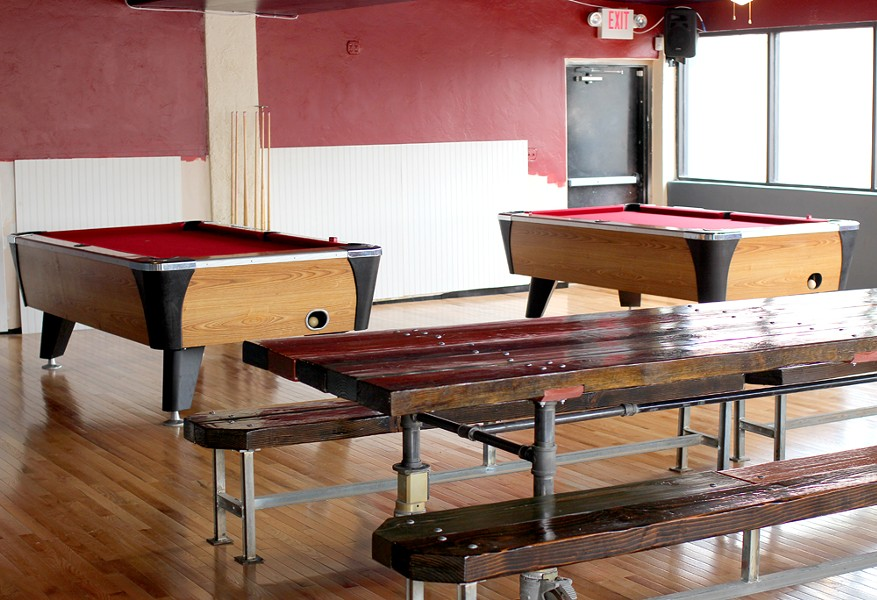 Pool tables and, soon, shuffleboard at St. Charles Tavern. - HEATHER HOCH