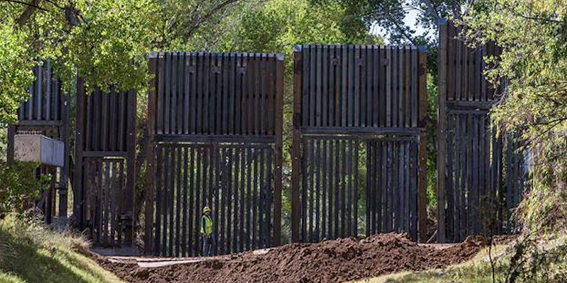 October Horror Show: Photos Show Border Wall Built Across San Pedro River