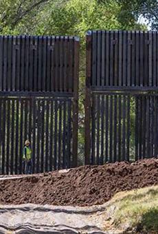 October Horror Show: Photos Show Border Wall Built Across San Pedro River