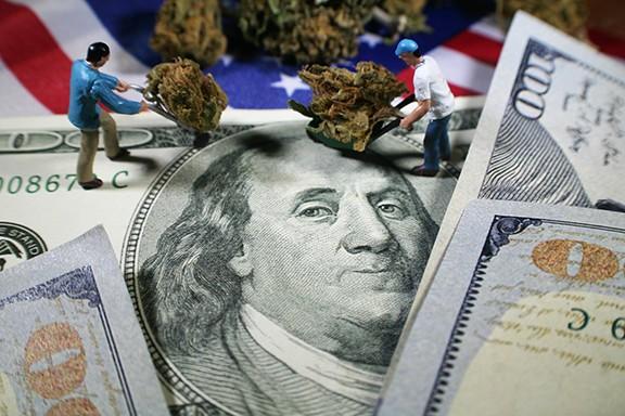 Money and marijuana go together like rama lama lama ka dinga da dinga dong