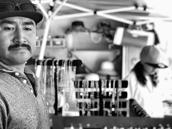 "Abelardo ""Abe"" Caraasco at his Tanque Verde Swap Meet shop."