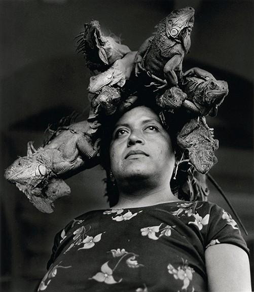 "Graciela Iturbide's ""Nuestra señora de la iguanas Juchitán,"" Oaxaco, 1979, gelatin silver print."