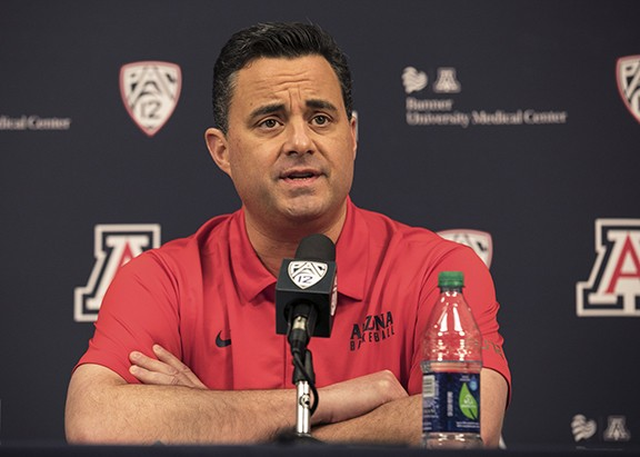 Sean Miller speaking to the press last week.