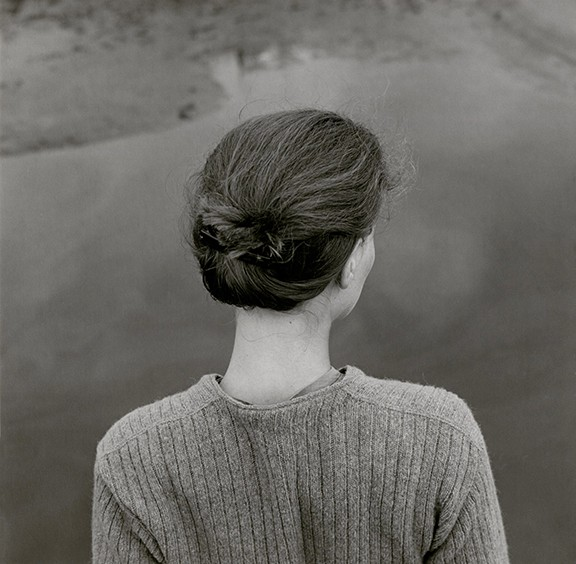 """""""Edith, Chincoteague, Virginia,"""" by Emmet Gowin, gelatin silver print, 1967. © Emmet and Edith Gowin"""