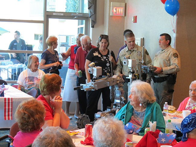 The Mountain View retirement community recognizes the hard work of local first responders every year with a block party. - COURTESY PHOTO