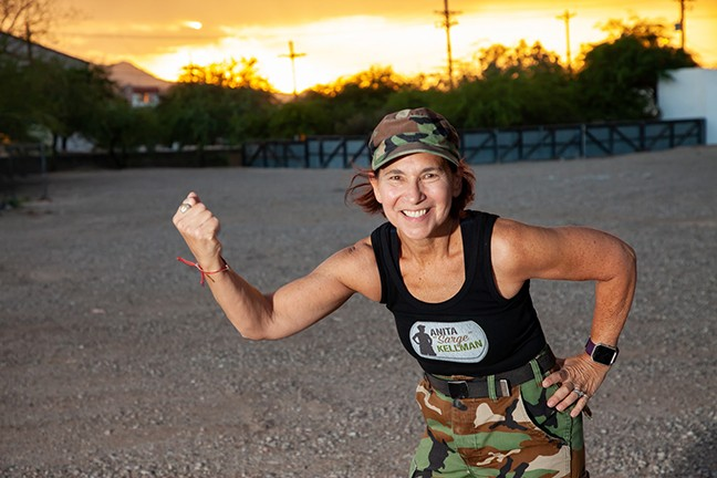 Anita Kellman, founder of the Kellman Beat Cancer Boot Camp, helps cancer survivors and their loved ones find strength through fitness. - TARYN TEWKSBURY