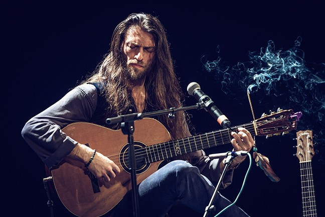 Estas Tonne views his hour-long acoustic compositions as a kind of meditation.