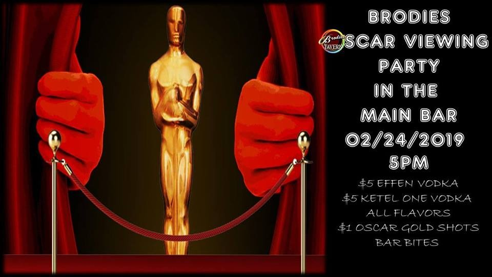 COURTESY OF BRODIES OSCAR VIEWING PARTY 2019 FACEBOOK EVENT PAGE