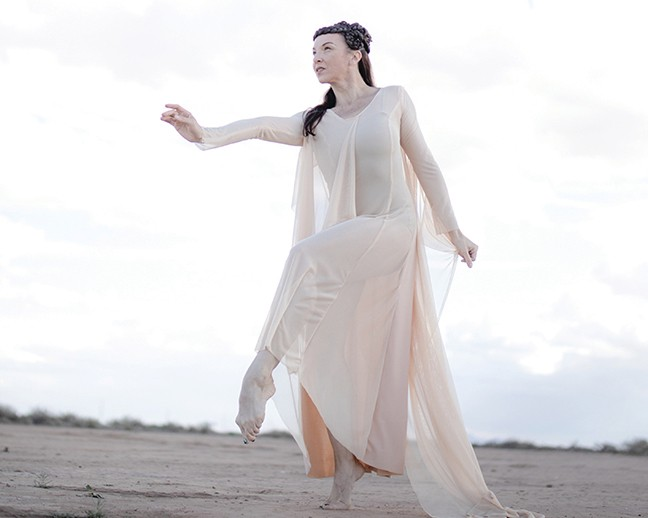 """Claire Hancock in the Artifact Dance concert """"Goliath—A Story Retold,"""" this weekend."""