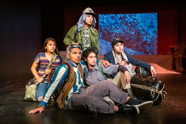 Students at Tucson Magnet High School premier the play Our Border Town.