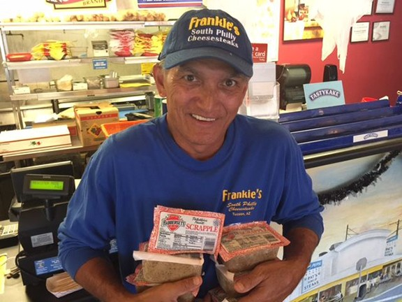 Frankie Santos, Philadelphia native and longtime proprietor of Frankie's South Philly Cheesesteaks.