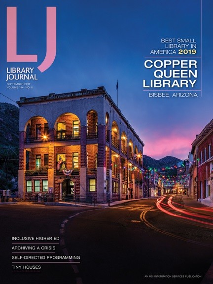 Cover of Library Journal honoring Bisbee's Copper Queen Library. - COURTESY OF COPPER QUEEN LIBRARY