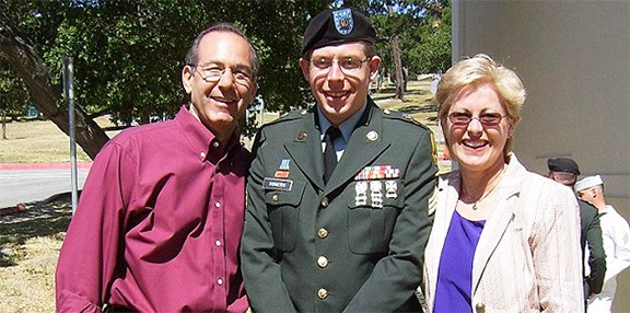The late Sgt. Daniel Somers with his parents, Howard and Jean.