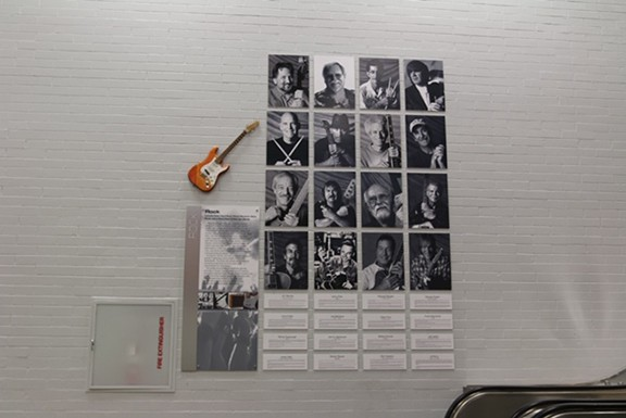 Portraits of artists line the walls of the Tucson Musicians Museum.