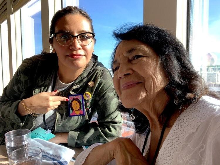 Cristela Alonzo visits with her idol, Dolores Huerta - CRISTELAALONZO