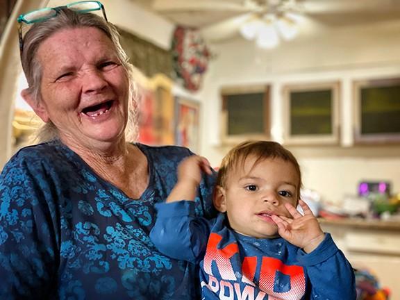 Debbie Fields and grandchild.