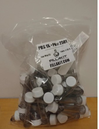 Fillakit's plastic tubes don't fit the racks used to analyze samples. (Provided by the New Mexico Department of Health)