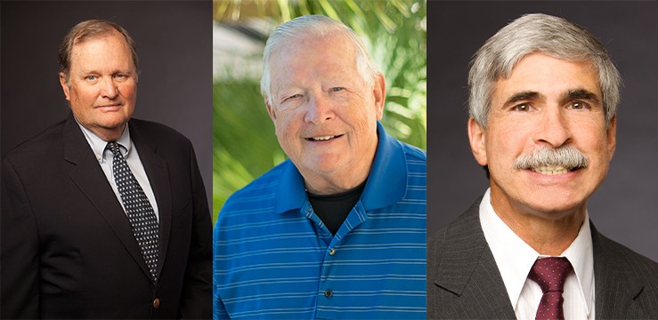 """From left to right: Bill Rodman, Harry """"Mo"""" Greene and Steve Solomon. - ORO VALLEY ELECTION 2020"""