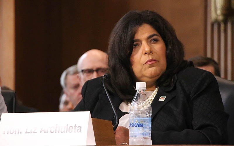 Coconino County Supervisor Liz Archuleta, shown here in a 2019 file photo, joined local government officials from around the country Wednesday to urge Congress to fully fund the Payment in Lieu of Taxes and Secure Rural Schools programs. The special payments to counties with large amounts of nontaxable federal land are vital in states like Arizona. - FILE PHOTO BY JULIAN PARAS/CRONKITE NEWS