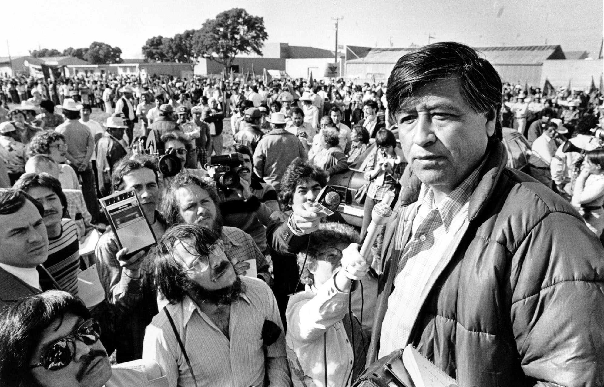 cesar chavez and the ufw Awoc leaders asked the national farm workers association (nfwa), a mostly latino farm workers union led by cesar chavez, to join their strike  (ufw), a union.