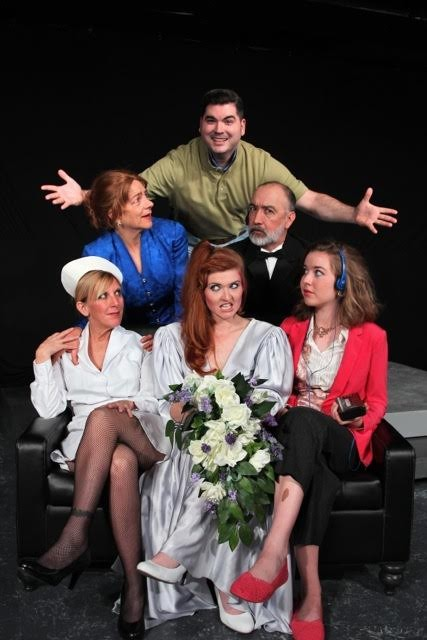 Steve Wood, Carlise Ellis, Keith Wick, Carrie Hill, Samantha Cormier and Sophia Duclo in LTW's One Slight Hitch.