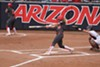 Arizona junior shortstop Jessie Harper hit three home runs in the Wildcats' 12-3 win over Auburn in the NCAA Softball Tournament Tucson Regional championship game on Sunday, May 19.