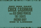 Chick Cashman with Kid Congo Powers at Che's