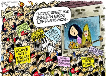 Claytoon of the Day: An Angry Mob Gets Swifty