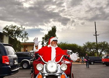 Santa on Wheels: Red Sleigh Toy Run Revs up on Saturday