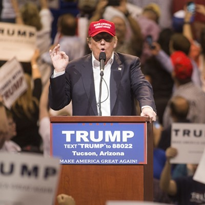 Donald Trump Makes Campaign Stop In Tucson