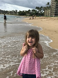 JIM NINTZEL - Life's a beach: Olivia Nintzel in Hawaii, May 2018