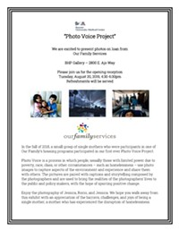Photo Voice Project Reception August 20 at the Behavioral Health Pavilion - Uploaded by kristenyungert