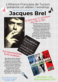 Atelier Jacques Brel - Uploaded by Alliance Française of Tucson