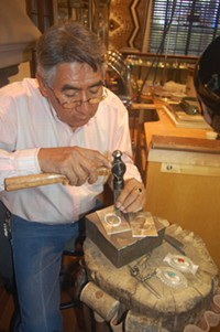 MORNING STAR TRADERS - Wilson Jim, Navajo silversmith
