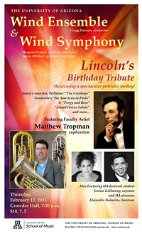 "Wind Ensemble & Wind Symphony: ""Lincoln Birthday Tribute"""