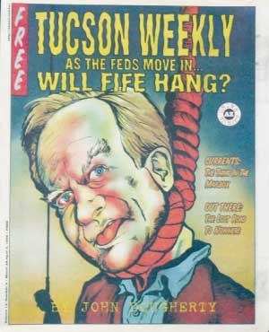 You know, Ev Mecham, for all his faults, is a better all-around human being, and certainly more honest, than this upper-crust, self-aggrandizing dildo masquerading as a leader. -- The Skinny on Gov. J. Fife Deadbeat III, March 28, 1996 - JOE FORKAN